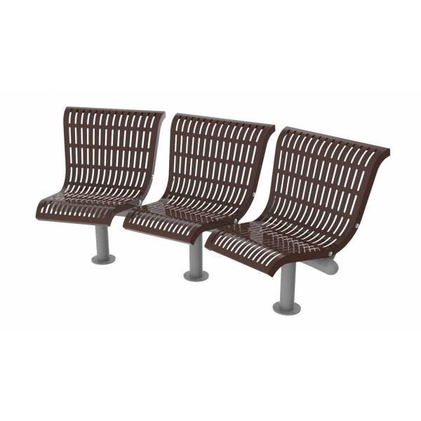 UPF5000 Plastic Coated Benches - Concave Series